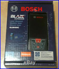 NEW BOSH BLAZE 400ft Outdoor Laser Measure With Bluetooth & Viewfinder GLM400C