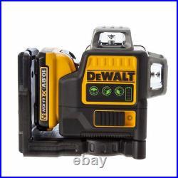 NEW DeWALT DCE089D1G Self Levelling Cross Line Laser 10.8V Green Beam x3 360°