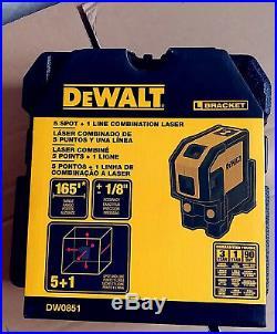 NEW DeWALT DW0851 Combination Self-Leveling 5-Spot Beam &1 Horizontal Line Laser