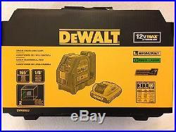 NEW DeWalt DW088LG 12V Lithium-Ion Self-Leveling GREEN Cross Line Laser