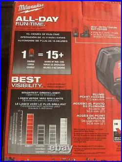 NEW Milwaukee M12 Green 125 ft. Cross Line and Laser Level (Tool-Only) 3622-20