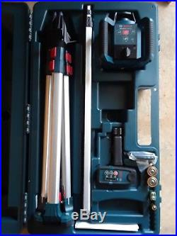 NEWithBosch 1,000ft Beam Self Leveling Rotary Laser Level Kit GRL250HVCK