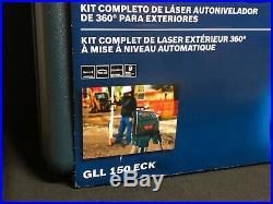 NIB Bosch GLL150ECK Self-Leveling 360º Laser Kit With 530 Ft Max Range NEW