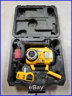 NICE DeWalt 18v Self Leveling Rotary Laser Level Kit DW079 WithRemote &Accessories
