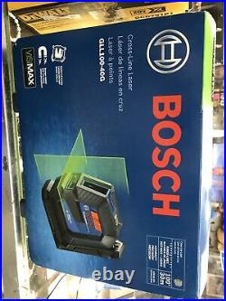 New Bosch GLL100-40G Self Leveling Cross-Line Laser Level Open Box