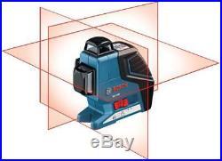 New Bosch Gll3-80 Cross Line Laser Level Self Leveling Tool 65 Feet