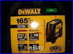 New Dewalt Dw0822 Laser Self Leveling Cross Line 165' Range Kit 2667285