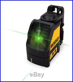 New Dewalt Dw088cg Self Leveling Cross Line Laser Level 165' Range Kit