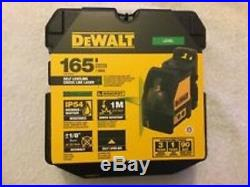 New Dewalt Dw088cg Self Leveling Cross Line Laser Level 165' Range Kit 2667350