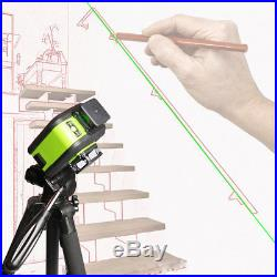 New Laser Level 12 Line Green Self Leveling 3D 360° Rotary Cross Measure Tool