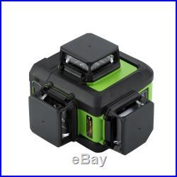 12-Line Laser Level Green Self Leveling 360° Rotary Cross Measure Tool UK