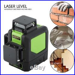 New Laser Level 12 Line Green Self Leveling 3D 360° Rotary Cross Measure Tool IS