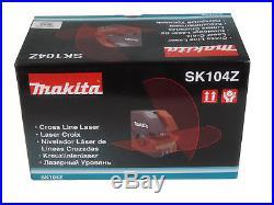 New Makita Sk104z Self Leveling Horizontal/Vertical Cross Line Laser