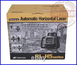 New! Topcon Rl-h5a Self-leveling Rotary Slope Laser Level Pkg, Grade, 16 Ft Inch