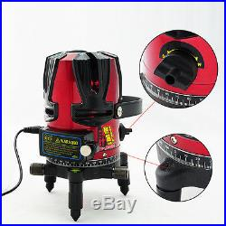 Rotary Laser Beam Self Leveling 8 line 1 point Laser Level Kit Free Tripod