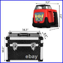 Rotary Laser Level Green Beam 500m Range Self-Leveling 360° Rotating Tool Kit