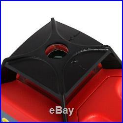 Rotary Laser Level Kit 500m Range Automatic Self-Leveling Rotating 360° Red Beam