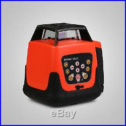 Rotary Red Laser Level+tripod+staff Remote Control Measuring Self Leveling