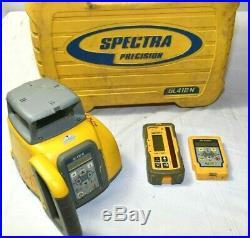 SPECTRA GL412N SELF-LEVELING SINGLE SLOPE LASER LEVEL + HL760 Receiver & RC402N