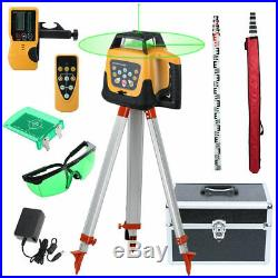 Samger Automatic Self Levelling Rotating Green Laser Level Rotary + Tripod Staff