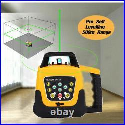 Samger Self-Leveling 360° Rotary Automatic Rotating Green Laser Level 500M Range