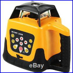 Self-Leveling 360 Degree Rotary Rotating Red Laser Level Kit with Case