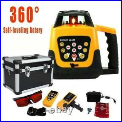 Self-Leveling Degree 360 Rotary Rotating Red Laser Level WithCase Tool Kit IP 54