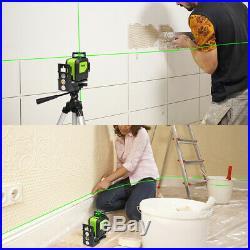 Self Leveling Laser Level Horizontal Vertical Line Green + Laser Receiver Huepar