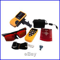 Self-Leveling Rotary Horizontal Vertical Laser Level Red Beam Staff Tripod Case