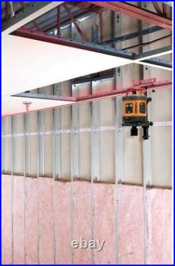Self-Leveling Rotary Laser Level Detector Grade Rod Horizontal Vertical Outdoor