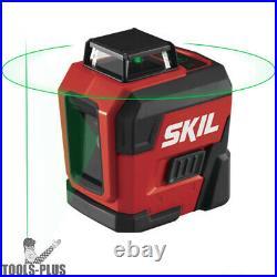 Skil LL9322G-01 100ft. 360 Degree Green Self-Leveling Cross Line Laser Level New