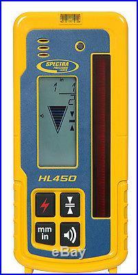 Spectra Precision LL300N-3 Self Leveling Laser Level Kit WithMetric Rod & HL450