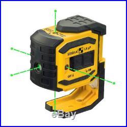 Stabila 03165 5-Point/Dot 60-Foot Range Self-Leveling Grean Beam Laser Level