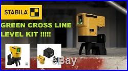 Stabila LAX50G Self Levelling Green Beam Cross Line Laser Level 19110