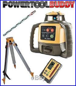 Topcon RL-H5A Laser Level with LS-100D Digital Receiver Tripod + Staff B50