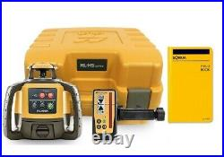 Topcon RL-H5A Self-Leveling Rotary Laser Level, Field Book, LS-100D Receiver