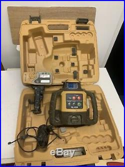 Topcon Rl-h5a Long Range Rotating Laser Level With Rechargeable Battery & Case