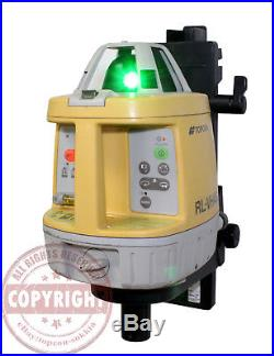 Topcon Rl-vh4g2 Self-leveling Green Beam Rotary Laser Level, Spectra, Hilti