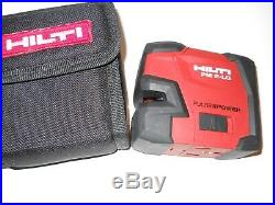 Very Nice Hilti Pm 2-lg Green Line Laser Level Self-leveling In Bag